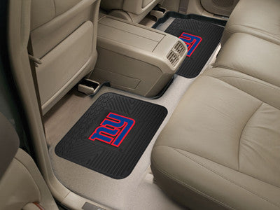 "NFL Officially licensed products New York Giants 2-pc Utility Mat 14""x17"" Boast your team colors with backseat Utility Mats"