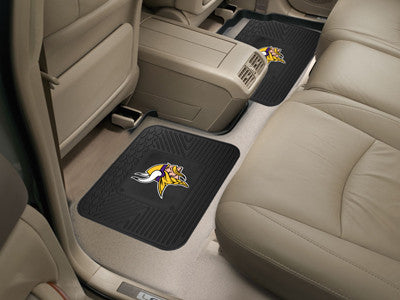 "NFL Officially licensed products Minnesota Vikings 2-pc Utility Mat 14""x17"" Boast your team colors with backseat Utility Mat"