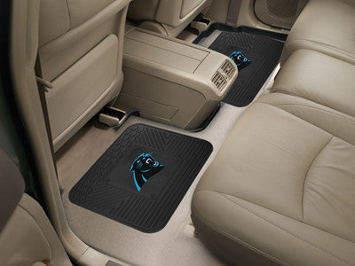 "NFL Officially licensed products Carolina Panthers 2-pc Utility Mat 14""x17"" Boast your team colors with backseat Utility Mat"