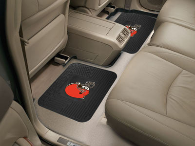 "NFL Officially licensed products Cleveland Browns 2-pc Utility Mat 14""x17"" Boast your team colors with backseat Utility Mats"