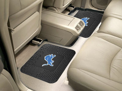 "NFL Officially licensed products Detroit Lions 2-pc Utility Mat 14""x17"" Boast your team colors with backseat Utility Mats by"