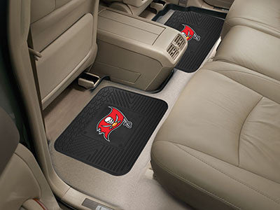 "NFL Officially licensed products Tampa Bay Buccaneers 2-pc Utility Mat 14""x17"" Boast your team colors with backseat Utility"