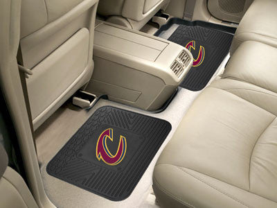 "NBA Officially licensed products Cleveland Cavaliers 2-pc Utility Mat 14""x17"" Boast your team colors with backseat Utility M"