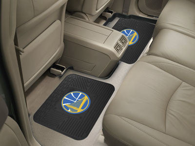 "NBA Officially licensed products Golden State Warriors 2-pc Utility Mat 14""x17"" Boast your team colors with backseat Utility"