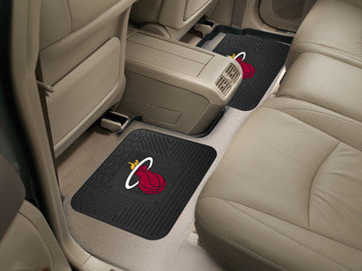 "NBA Officially licensed products Miami Heat 2-pc Utility Mat 14""x17"" Boast your team colors with backseat Utility Mats by Sp"