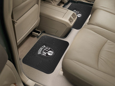 "NBA Officially licensed products Brooklyn Nets 2-pc Utility Mat 14""x17"" Boast your team colors with backseat Utility Mats by"