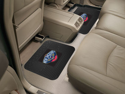 "NBA Officially licensed products New Orleans Pelicans 2-pc Utility Mat 14""x17"" Boast your team colors with backseat Utility"