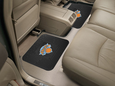 "NBA Officially licensed products New York Knicks 2-pc Utility Mat 14""x17"" Boast your team colors with backseat Utility Mats"