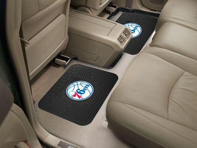 "NBA Officially licensed products Philadelphia 76ers 2-pc Utility Mat 14""x17"" Boast your team colors with backseat Utility Ma"