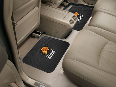 "NBA Officially licensed products Phoenix Suns 2-pc Utility Mat 14""x17"" Boast your team colors with backseat Utility Mats by"