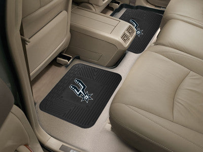 "NBA Officially licensed products San Antonio Spurs 2-pc Utility Mat 14""x17"" Boast your team colors with backseat Utility Mat"
