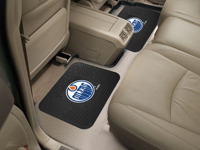 "NHL Officially licensed products Edmonton Oilers 2-pc Utility Mat 14""x17"" Boast your team colors with backseat Utility Mats"