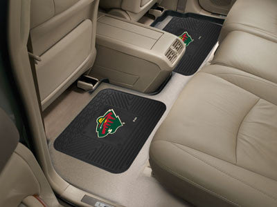 "NHL Officially licensed products Minnesota Wild 2-pc Utility Mat 14""x17"" Boast your team colors with backseat Utility Mats b"