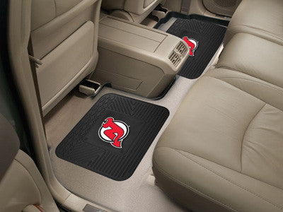 "NHL Officially licensed products New Jersey Devils 2-pc Utility Mat 14""x17"" Boast your team colors with backseat Utility Mat"