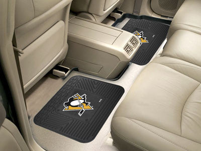"NHL Officially licensed products Pittsburgh Penguins 2-pc Utility Mat 14""x17"" Boast your team colors with backseat Utility M"