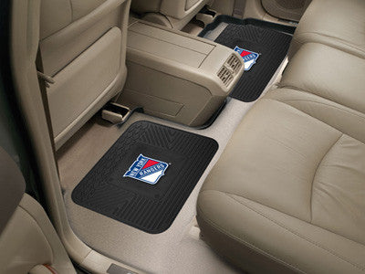 "NHL Officially licensed products New York Rangers 2-pc Utility Mat 14""x17"" Boast your team colors with backseat Utility Mats"
