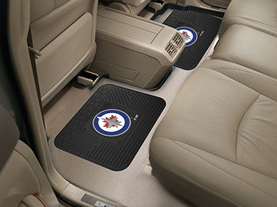 "NHL Officially licensed products Winnipeg Jets 2-pc Utility Mat 14""x17"" Boast your team colors with backseat Utility Mats by"