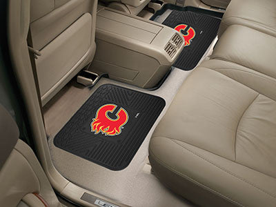 "NHL Officially licensed products Calgary Flames 2-pc Utility Mat 14""x17"" Boast your team colors with backseat Utility Mats b"