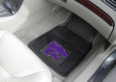 "NCAA Officially licensed Kansas State University 2-pc Vinyl Car Mat Set 17""x27"" Add style to your ride with heavy duty Vinyl"