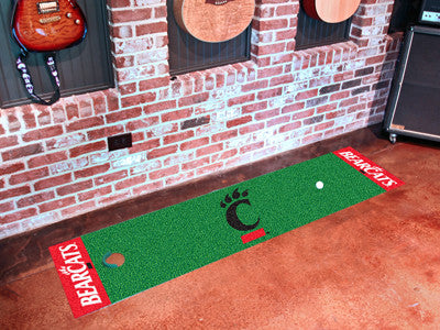 "NCAA Officially licensed University of Cincinnati Putting Green Mat 18""x72"" Become a pro and perfect your short game with Go"