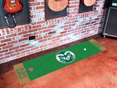 "NCAA Officially licensed Colorado State University Putting Green Mat 18""x72"" Become a pro and perfect your short game with G"