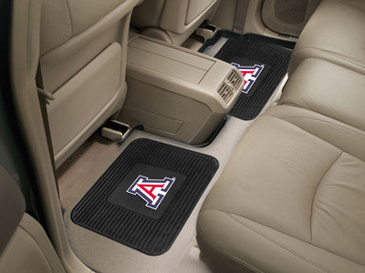 "NCAA Officially licensed University of Arizona 2 Utility Mats 14""x17"" Boast your team colors with backseat Utility Mats by S"