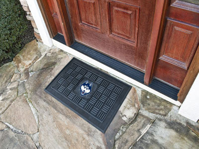 "NCAA Officially licensed University of Connecticut Medallion Door Mat 19.5""x31.25"" Make a great first impression when guests"