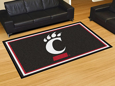 "NCAA Officially licensed University of Cincinnati 5x8 Rug 59.5""x88"" Show off your team pride in a big way! 5'x8' ultra plush"