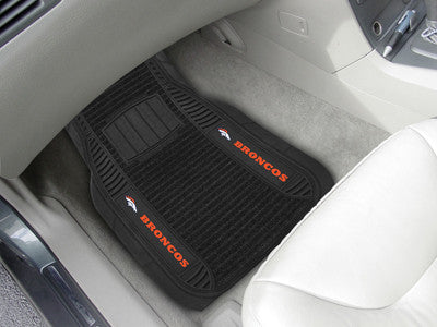 "NFL Officially licensed products Denver Broncos Deluxe Mat 21""x27"" Deluxe Car Mats are perfect for anyone who is serious abo"