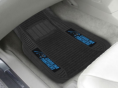 "NFL Officially licensed products Carolina Panthers Deluxe Mat 21""x27"" Deluxe Car Mats are perfect for anyone who is serious"