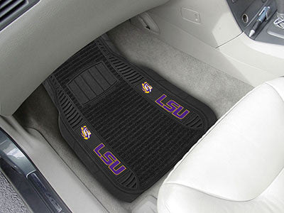 "NCAA Officially licensed Louisiana State University Deluxe Mat 21""x27"" Deluxe Car Mats are perfect for anyone who is serious"