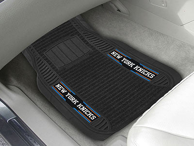 "NBA Officially licensed products New York Knicks Deluxe Mat 21""x27"" Deluxe Car Mats are perfect for anyone who is serious ab"