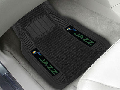 "NBA Officially licensed products Utah Jazz Deluxe Mat 21""x27"" Deluxe Car Mats are perfect for anyone who is serious about th"