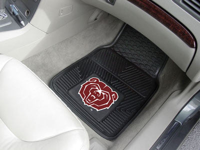 "NCAA Officially licensed Missouri State 2-pc Vinyl Car Mat Set 17""x27"" Add style to your ride with heavy duty Vinyl Car Mats"