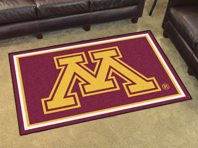 "NCAA Officially licensed University of Minnesota 4x6 Rug 44""x71"" Show off your team pride in a big way! 4'x6' ultra plush ar"