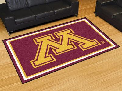 "NCAA Officially licensed University of Minnesota 5x8 Rug 59.5""x88"" Show off your team pride in a big way! 5'x8' ultra plush"
