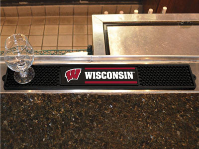 "NCAA Officially licensed University of Wisconsin Drink Mat 3.25""x24"" Keep your freshly crafted drinks safe with our new offi"