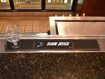 "NHL Officially licensed products San Jose Sharks Drink Mat 3.25""x24"" Keep your freshly crafted drinks safe with our new offi"