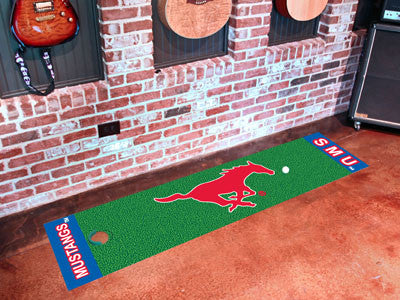 "NCAA Officially licensed Southern Methodist University Putting Green Mat 18""x72"" Become a pro and perfect your short game wi"