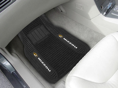 "NCAA Officially licensed University of Missouri Deluxe Mat 21""x27"" Deluxe Car Mats are perfect for anyone who is serious abo"