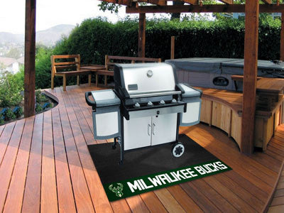 "NBA Officially licensed products Milwaukee Bucks Grill Mat 26""x42"" Are you a die-hard sports fan that likes to show off your"