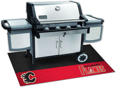 "NHL Officially licensed products Calgary Flames Grill Mat 26""x42"" Are you a die-hard sports fan that likes to show off your"
