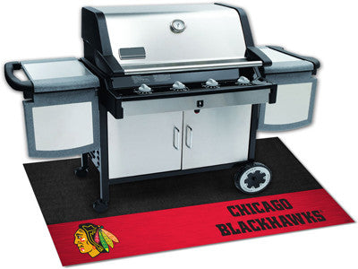 "NHL Officially licensed products Chicago Blackhawks Grill Mat 26""x42"" Are you a die-hard sports fan that likes to show off y"