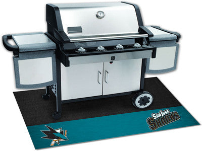 "NHL Officially licensed products San Jose Sharks Grill Mat 26""x42"" Are you a die-hard sports fan that likes to show off your"