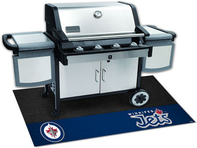 "NHL Officially licensed products Winnipeg Jets Grill Mat 26""x42"" Are you a die-hard sports fan that likes to show off your t"