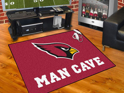"NFL Officially licensed products Arizona Cardinals Man Cave All-Star Mat 33.75""x42.5"" Celebrate your fandom with a Man Cave"
