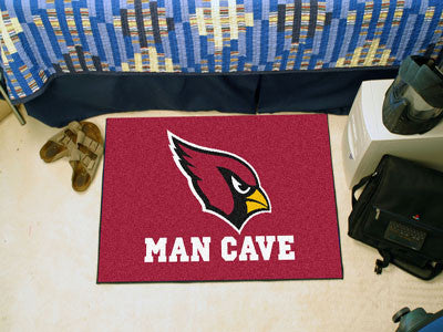"NFL Officially licensed products Arizona Cardinals Man Cave Starter Rug 19""x30"" Celebrate your fandom with a Man Cave mat fr"