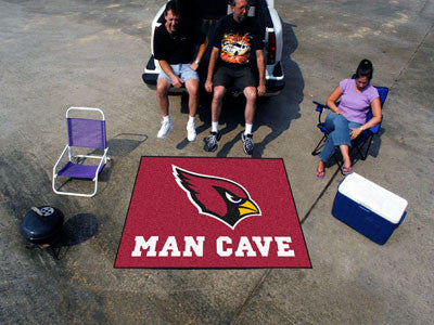 NFL Officially licensed products Arizona Cardinals Man Cave Tailgater Rug 5'x6' Celebrate your fandom with a Man Cave mat fr
