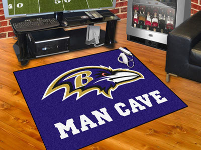 "NFL Officially licensed products Baltimore Ravens Man Cave All-Star Mat 33.75""x42.5"" Celebrate your fandom with a Man Cave m"