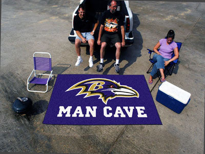 NFL Officially licensed products Baltimore Ravens Man Cave UltiMat 5'x8' Rug Celebrate your fandom with a Man Cave mat from